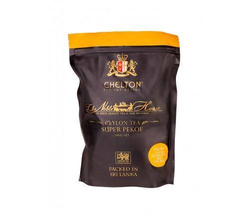 Благородный дом 500 гр черный листовой чай (Super Pekoe), зип пакет