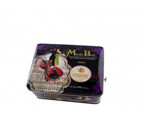 "Музыкальная шкатулка ""Вальс"" (с музыкой)  отборный черный чай ж/б 200 гр."