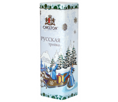 «Русская тройка»  крупнолистовой черный чай (ОР) , ж/б , 80гр