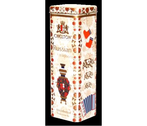 """""""Русские традиции"""" черный крупно-листовой чай (ОР) ж/б 80 гр."""