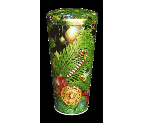 С Рождеством черный крупнолистовой ОРА  ж/б 100 гр